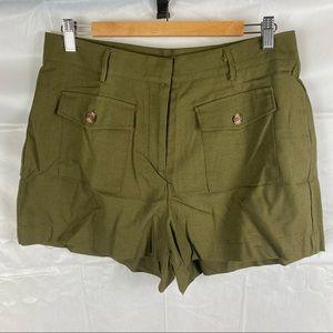 Crossroads Khaki Paradiso Safari Front Pocket Shorts Size 12